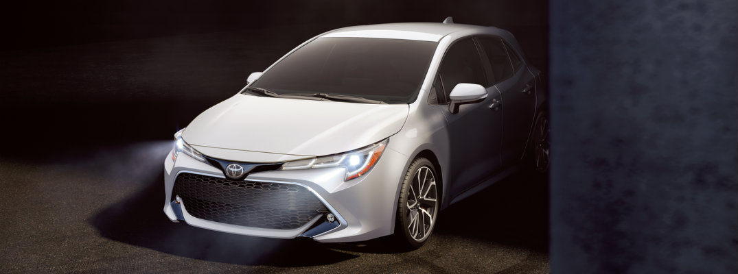 What new features are on the 2019 Toyota Corolla Hatchback?