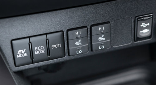 Selectable drive modes of 2018 Toyota RAV4