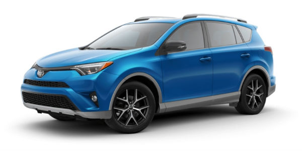 2018 Toyota RAV4 in S-Code Electric Storm Blue