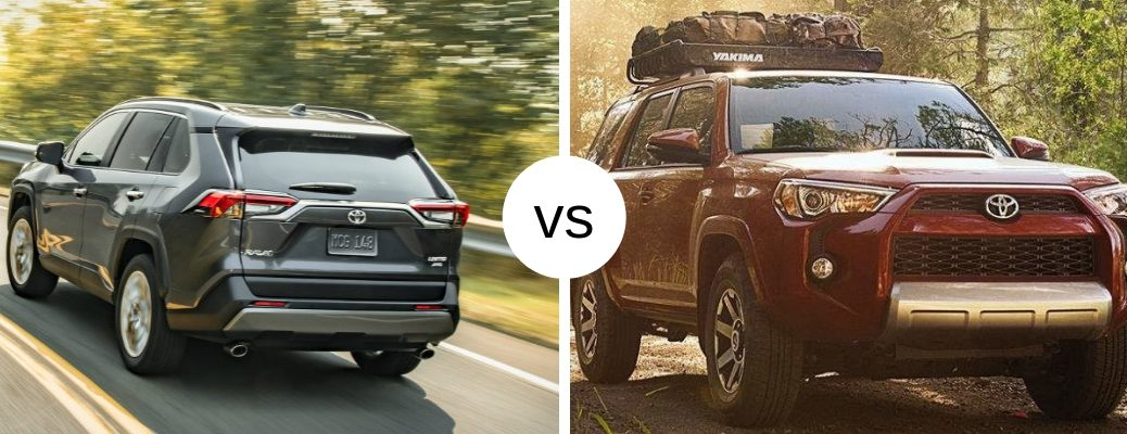 2019 Toyota RAV4 and 4Runner models in comparison image