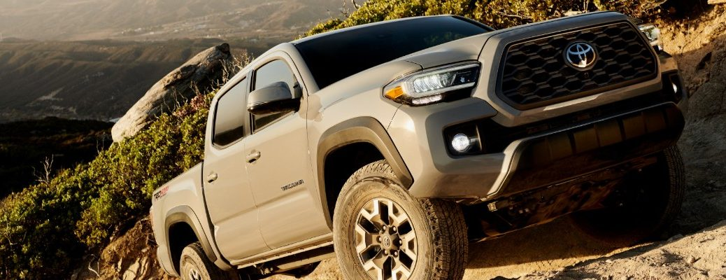 2020 Toyota Tacoma TRD Pro scaling up rocky hill