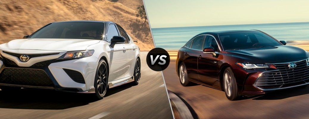 2019 Toyota Camry and Avalon models in comparison image