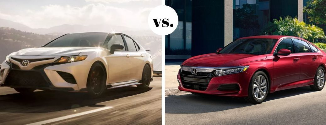 Toyota Camry TRD model and Honda Accord in comparison photo