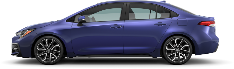 2020 Toyota Corolla Blue Crush Metallic Exterior Color Option
