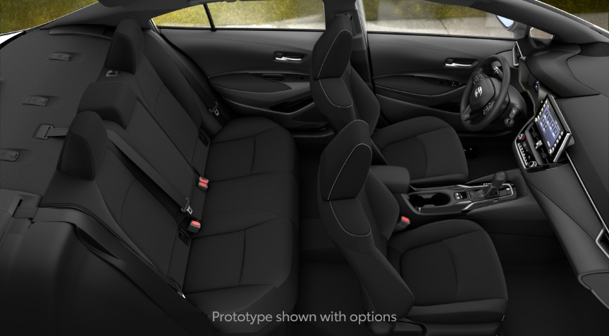 2020 Toyota Corolla LE All Black Interior Color Option