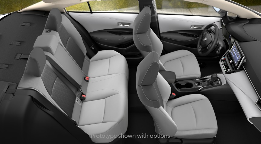 2020 Toyota Corolla LE Light Gray and Moonstone Interior Color Option