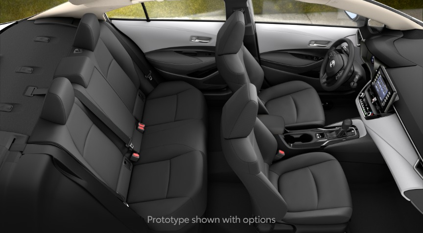 2020 Toyota Corolla L Light Gray and Moonstone Interior Color Option