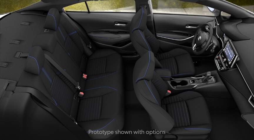 2020 Toyota Corolla SE Blue and Black Interior Color Option