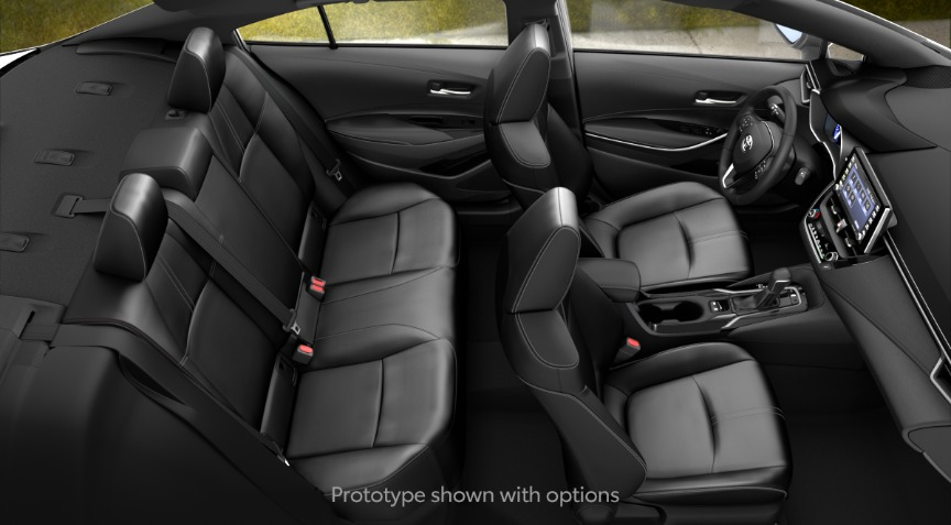 2020 Toyota Corolla XLE All Black SofTex Interior Color Option