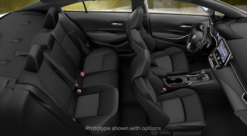 2020 Toyota Corolla XSE All Black SofTex Interior Color Option