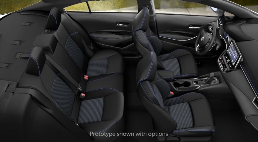 2020 Toyota Corolla XSE Blue and Black SofTex Interior Color Option