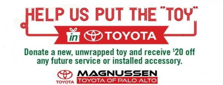 Help the Staff at Toyota Palo Alto Put the Toy in Toyota This Holiday Season!