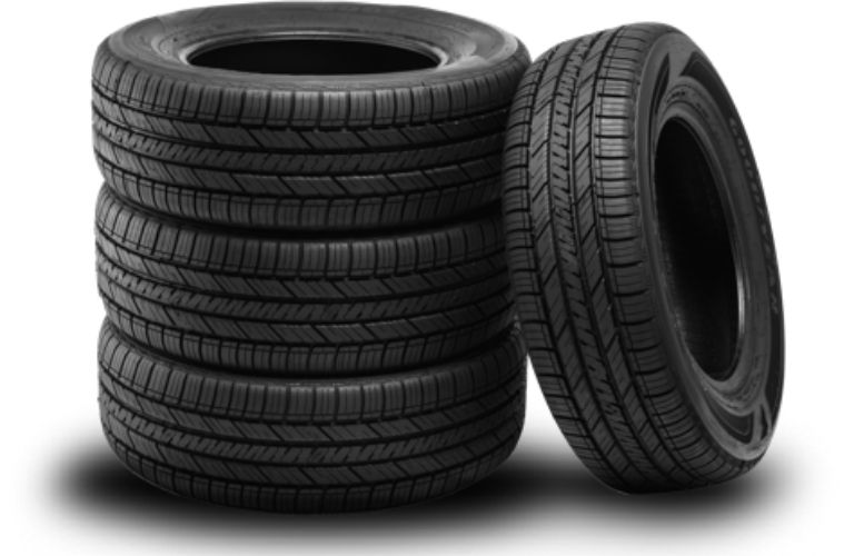 Image of a stack of a set of four tires