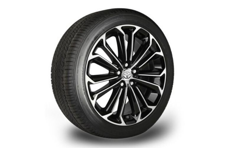 Image of a single Toyota wheel and tire