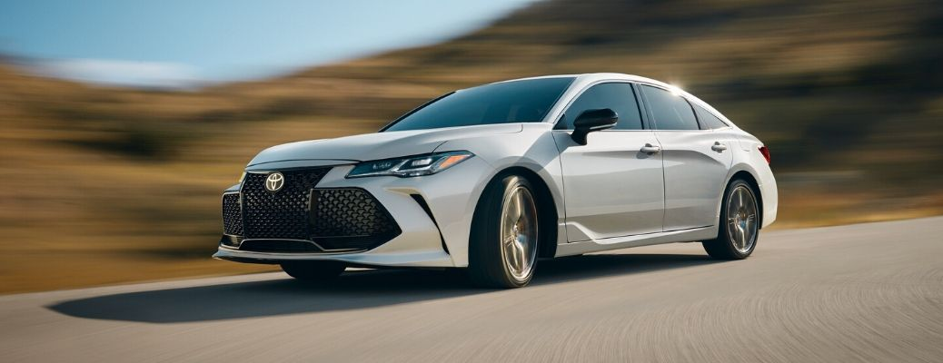 Exterior view of a white 2020 Toyota Avalon