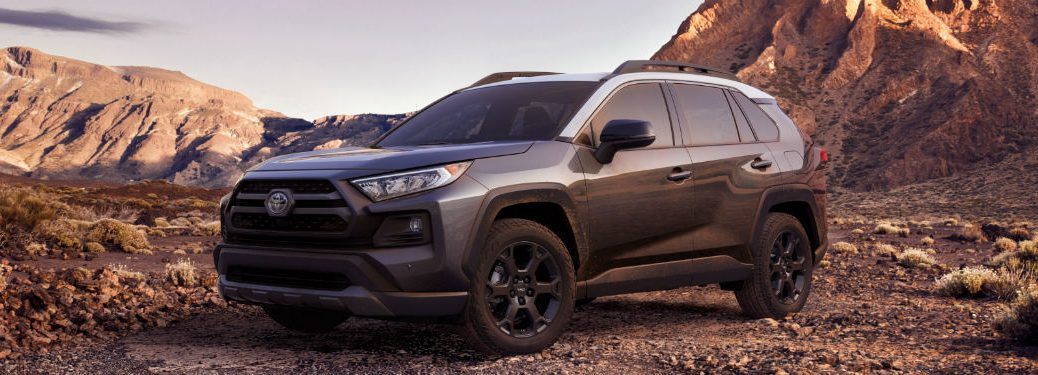 side view of a gray 2020 Toyota RAV4