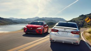 two 2020 Toyota Camry models
