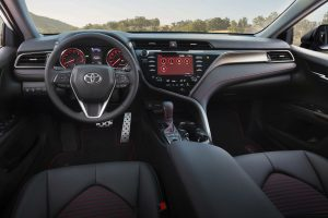 front interior of a 2020 Toyota Camry