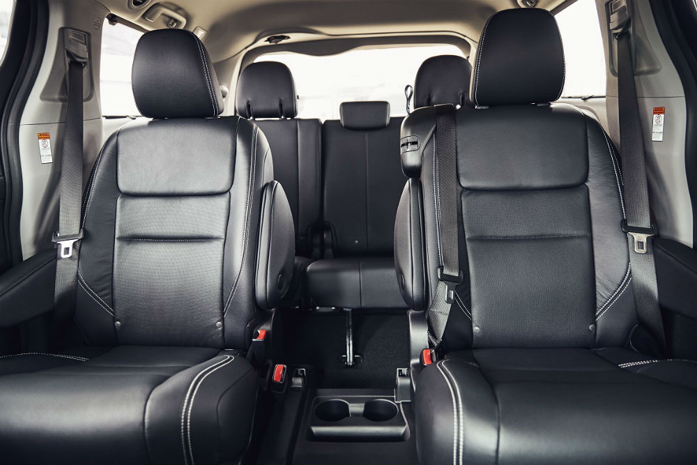 full interior of a 2020 Toyota Sienna