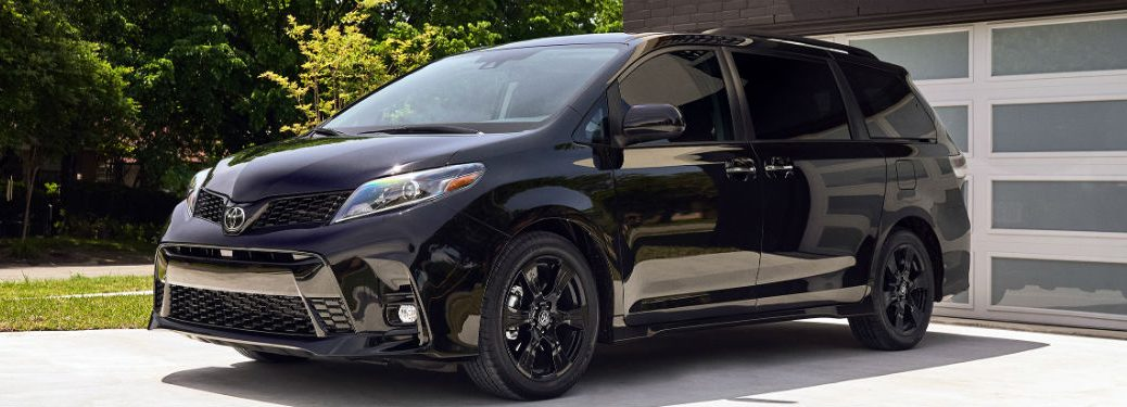 side view of a black 2020 Toyota Sienna