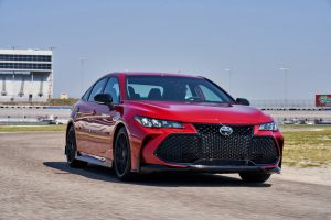 front view of a red 2020 Toyota Avalon