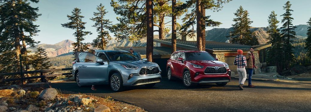 two 2020 Toyota Highlander models