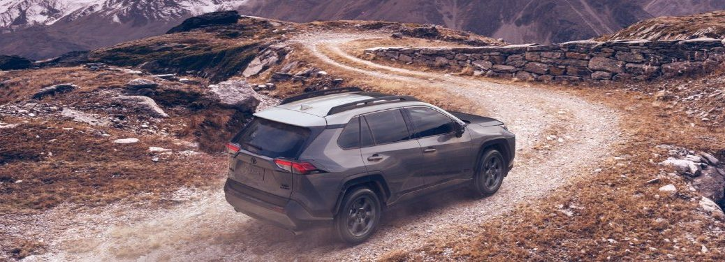 side view of a gray 2021 Toyota RAV4