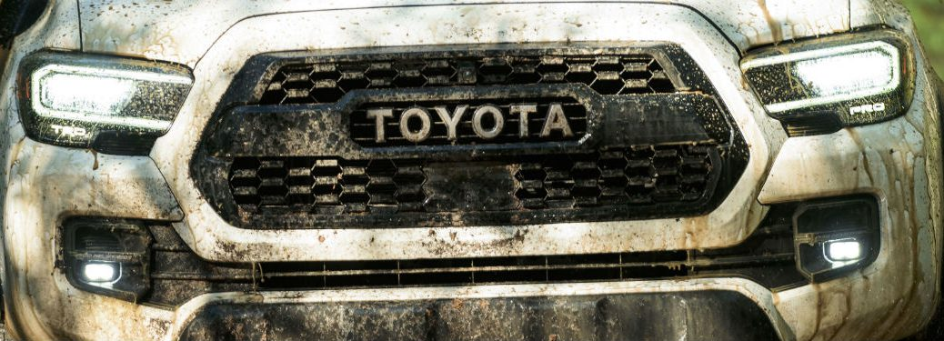 front grille of a 2021 Toyota Tacoma