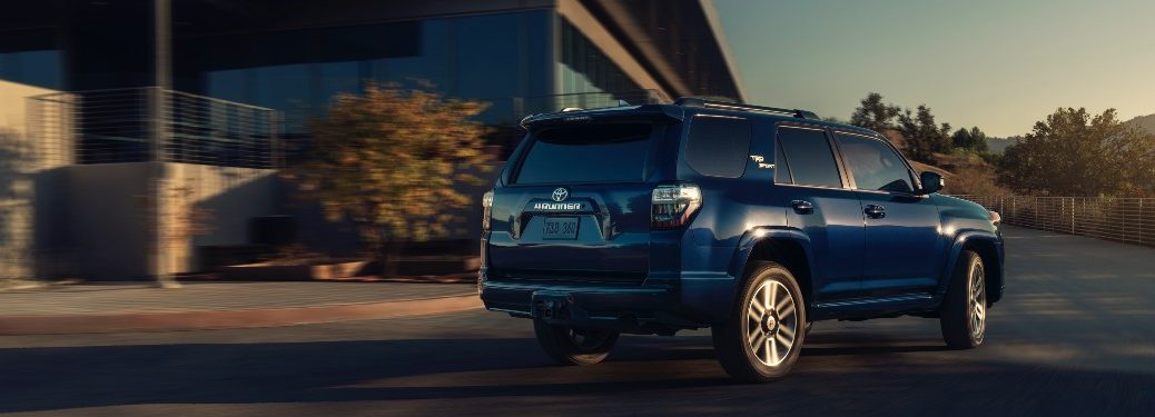 side view of a blue 2022 Toyota 4Runner TRD Sport