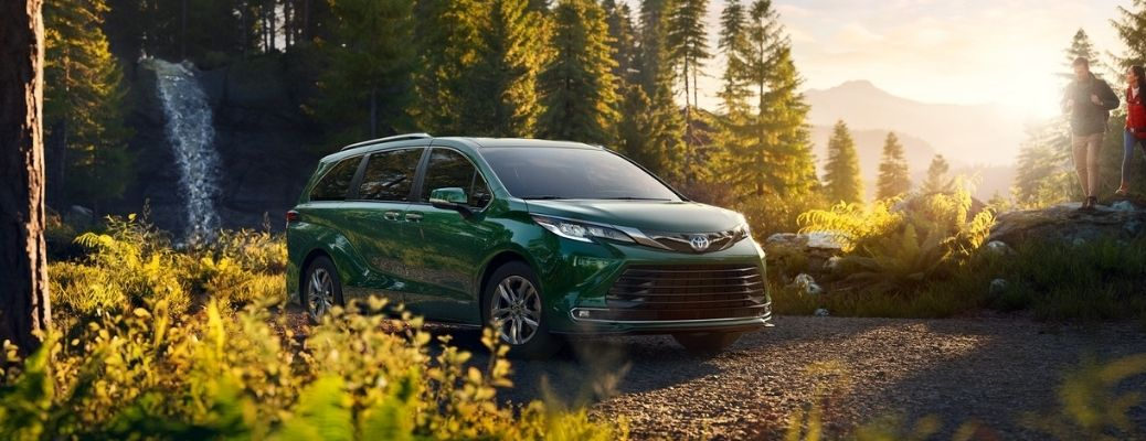 2021 Toyota Sienna Cypress parked in the middle of the forest