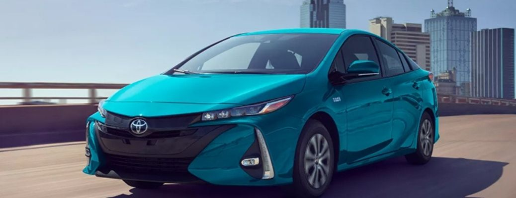 Image of the 2022 Toyota Prius Prime moving towards its destination