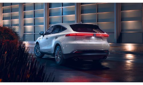 2021 Toyota Venza exterior view of back of white model