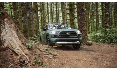 2020 Toyota RAV4 off roading through forest
