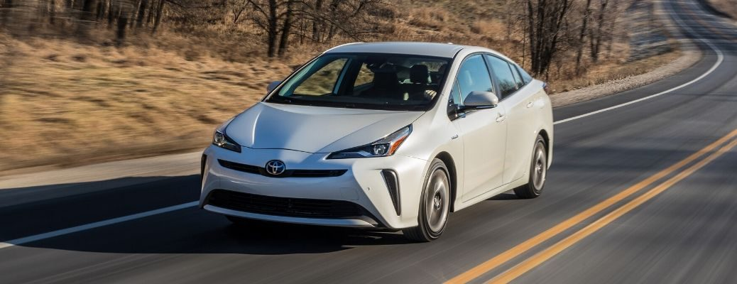 2020 Toyota Prius driving on a highway