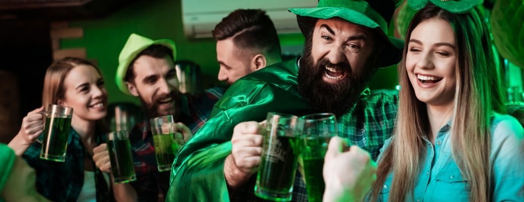 St. Patrick's Day revelers dressed in green