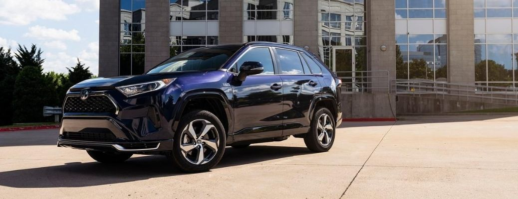 2021 Toyota RAV4 Prime parked outside building during day