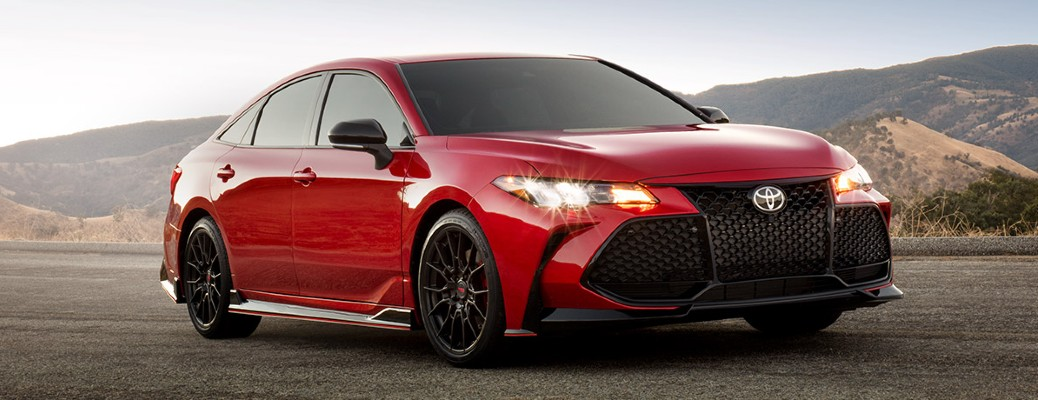 red 2020 Toyota Avalon on road