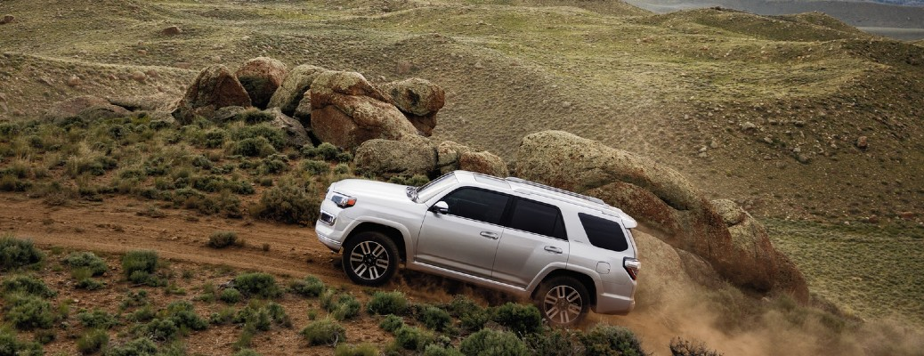 2020 Toyota 4Runner driving up hill