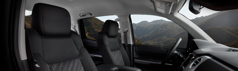 front interior of the 2021 Toyota Tundra