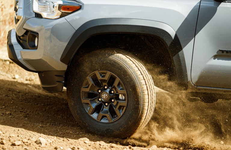 front wheel of the 2021 Toyota Tacoma