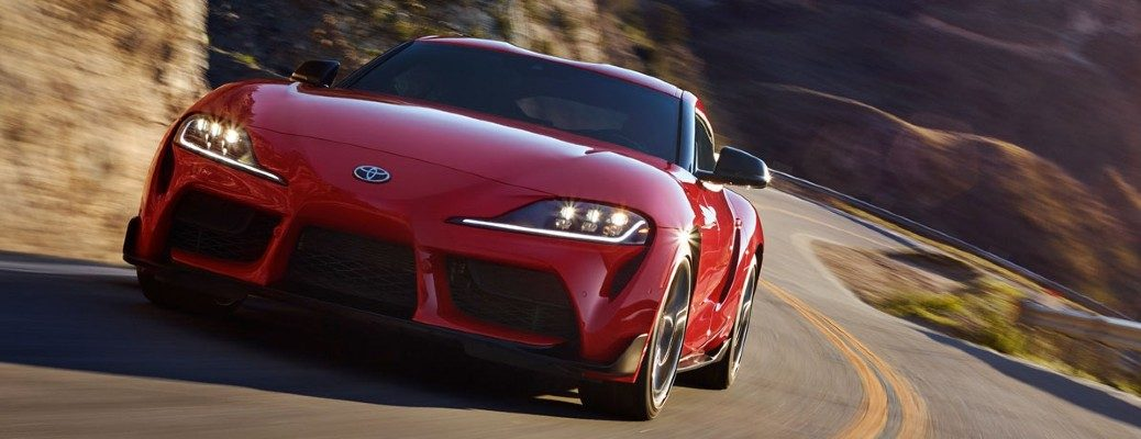 2020 Toyota GR Supra exterior front driving on highway