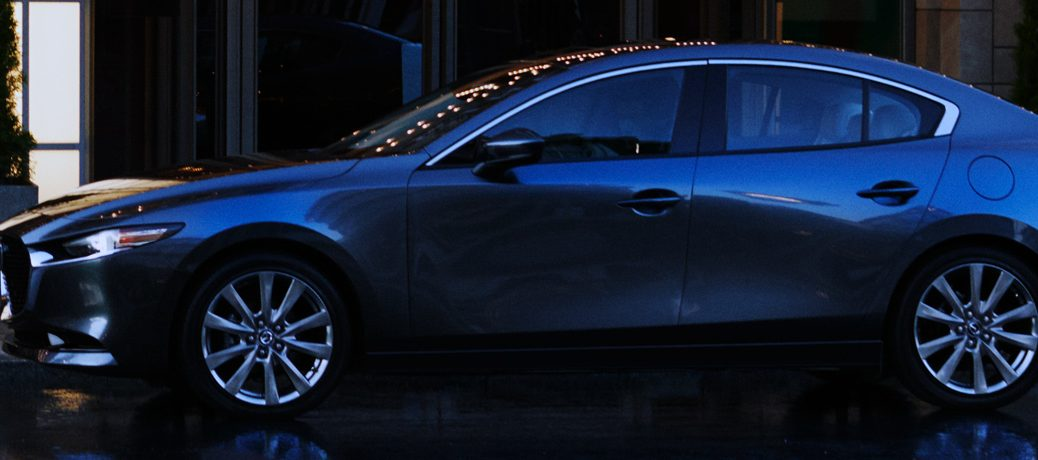 2019 mazda mazda3 sedan at night in city