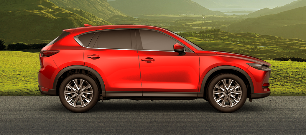 red mazda cx-5 side view