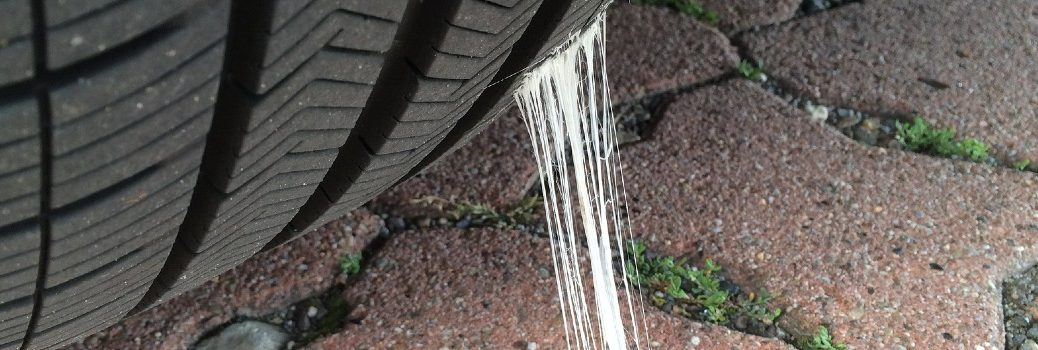 chewing gum stuck on tire