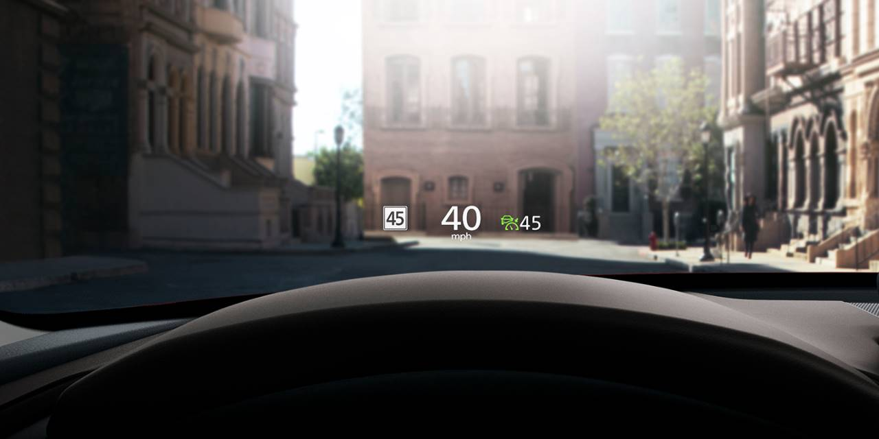 active driving display in the 2020 Mazda CX-30