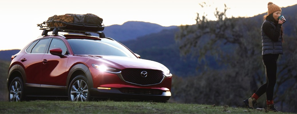 2021 Mazda CX-30 with roof rack and roof basket