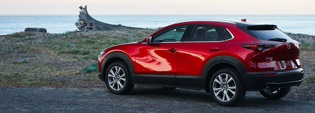 2021 Mazda CX-30 parked on a rural road