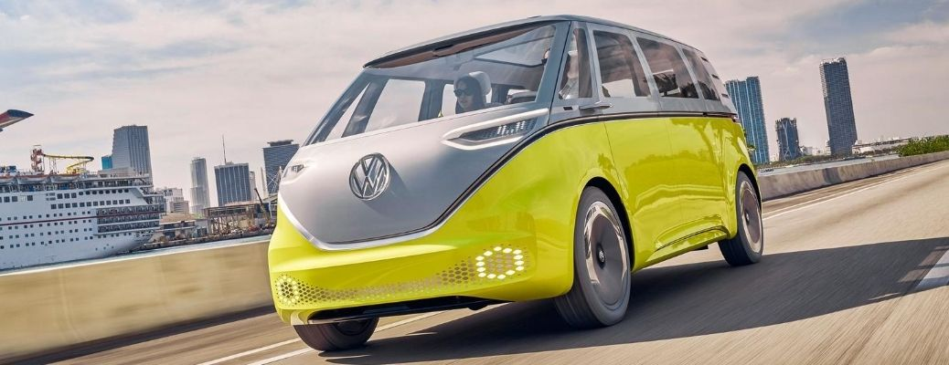 VW ID. BUZZ driving on highway