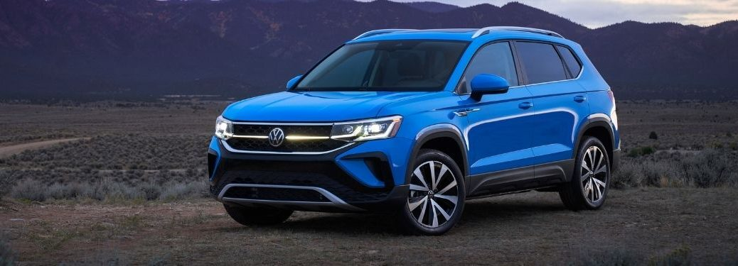 front and side view of the 2022 VW Taos