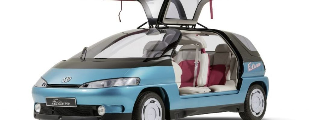 front quarter view of a concept car by Volkswagen